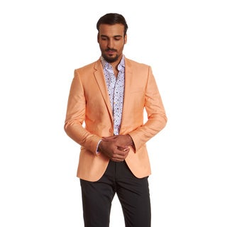 Suslo Couture Men's Dylan Orange Sport Coat Blazer