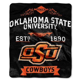 COL 704 Oklahoma State Raschel Throw