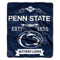 COL 704 Polyester Penn State Label Raschel Throw
