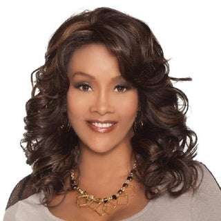 Vivica A. Fox Collection Goldie-V Black Synthetic Heat Resistant Wig