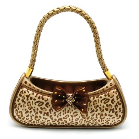 Teen Collection Black/Brown Ceramic Cheetah Purse