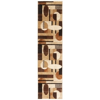 Home Dynamix Tribeca Collection HD5376 Brown/Olive Olefin/Polypropylene Area Rug Runner (1'9 x 7'2)