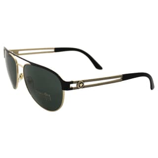 Versace VE 2165 1366/71 - Pale Gold/Black by Versace for Women - 58-15-140 mm Sunglasses
