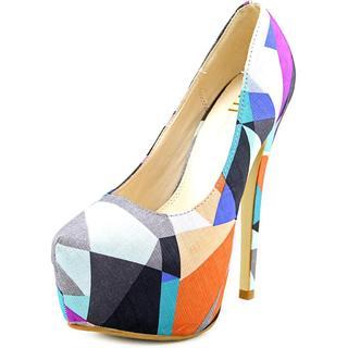 Famous Name Brand Women's Maniac Retro Multicolor Textile Basic Dress Shoes