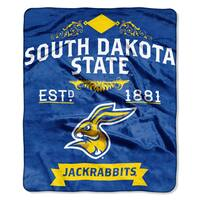COL 704 South Dakota State Multicolor Polyester Raschel Throw