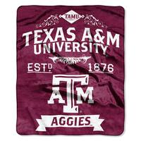 COL 704 Texas A&M Label Raschel Throw
