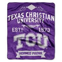 COL 704 Texas Christian Label Raschel Throw