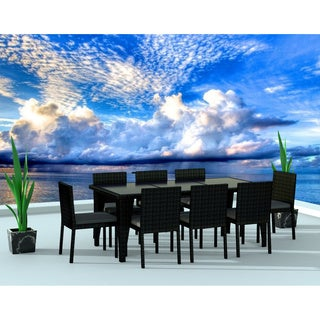 Urban Furnishing Black/Charcoal Resin Wicker Outdoor Patio 9-piece Dining Set