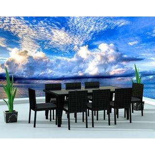 Urban Furnishing Black/Charcoal Resin Wicker Outdoor Patio 9-piece Dining Set