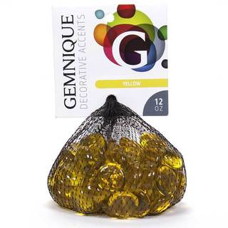 Multicolor Glass 12-ounce Bags of Gems (Case of 20) (5 options available)