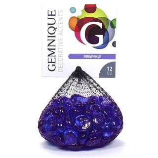 Blue/Clear/Green/Purple Glass Gems (Case of 20 12-ounce Bags)