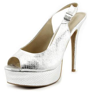 Chinese Laundry Women's Abba Silver Synthetic High Heel Dress Shoes