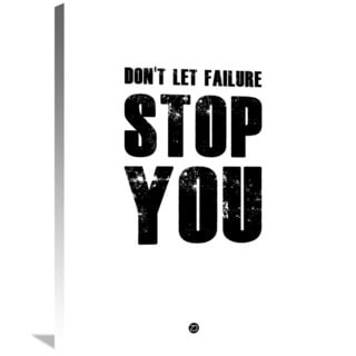 Naxart Studio 'Don't Let Failure Stop You 2' Stretched Canvas Wall Art