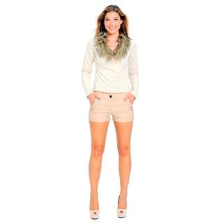 Sara Boo Women's Brown Faux Fur Top