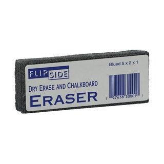Flipside Felt Dry-erase and Chalkboard 5 x 2 x 1-inch Eraser (Case of 24)