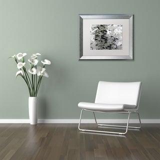 Kurt Shaffer 'Marsh Abstract' Matted Framed Art