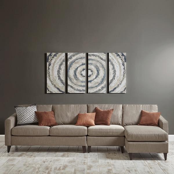 Strick & Bolton 4-panel Grey Bon Bon Gel Coat Printed On Canvas