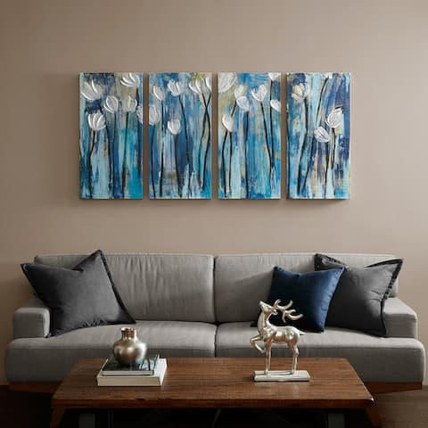 Copper Grove Blue 4-piece Set Gel Coat Printed on Canvas