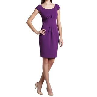 Elie Tahari Women's Gia Purple Viscose Size 10 Dress