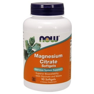Now Foods Magnesium Citrate (90 Softgels)