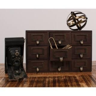 Apothecary 7.5x12x4 Desktop Rustic Wood Drawer Set|https://ak1.ostkcdn.com/images/products/12042958/P18913671.jpg?impolicy=medium
