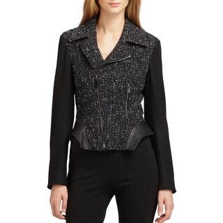 Elie Tahari Women's Francis Black Wool Size 12 Tweed Jacket