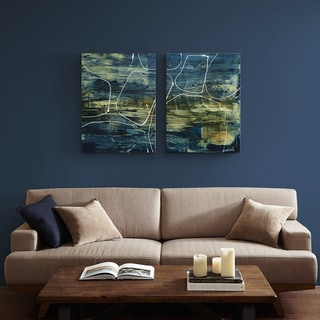 INK+IVY 2-panel Cool Quarry Blue Canvas