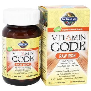 Garden of Life Vitamin Code Raw Iron (30 Vegan Capsules)