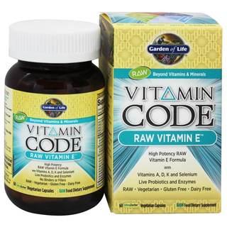 Garden of Life Vitamin Code Raw Vitamin E (Package of 60 Capsules)