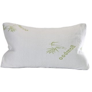 Shredded Memory Foam Pillow with Rayon from Bamboo Cover - White