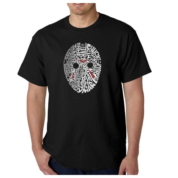 Los Angeles Mens Pop Art Slasher Movie Villians Multicolored Cotton T-shirt
