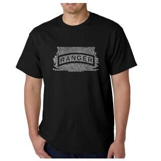 Los Angeles Pop Art Men's The US Ranger Creed Multicolor Cotton T-shirt