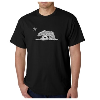 Los Angeles Pop Art Men's California Bear Cotton T-shirt