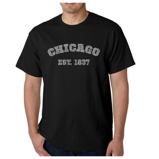 Los Angeles Pop Art Men's Chicago 1837 Multicolor Cotton T-shirt