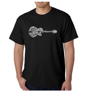 Los Angeles Pop Art Men's Country Guitar Cotton T-shirt