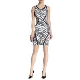 Lotus Threads Women's 56407 Nylon-blend Net Inlay Body Conscious Dress