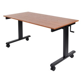 Luxor STANDCF60-BK/TK Powder-coated Laminate and Steel Desk