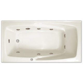 Signature Bath White Acrylic 60-inch x 32-inch x 17.5-inch Drop-in Whirlpool Bath