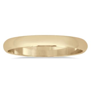 Marquee Jewels 14k Yellow Gold 2-millimeter Domed Comfort Fit Wedding Band