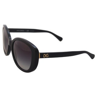 Dolce & Gabbana DG 4248 501/8G - Black/Grey by Dolce & Gabbana for Women - 55-19-140 mm Sunglasses