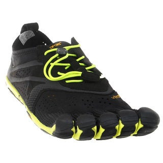 Vibram Men's Fivefingers V-RUN Black/Yellow Rubber Shoes