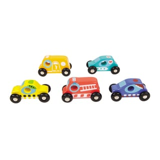 Boikido Wooden 5 Car Set