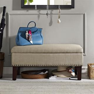 Avenue Greene Stanton Oatmeal Storage Ottoman Bench