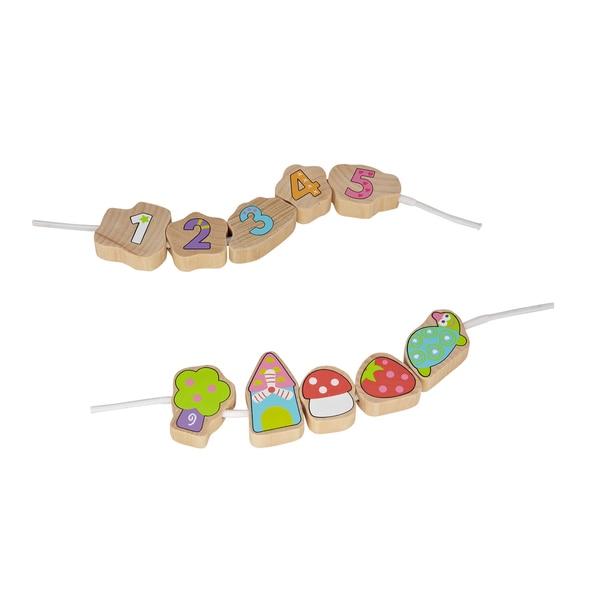 Boikido Wooden Threading Beads 12 Piece Set