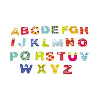 Wooden Magnetic Capital Letters 59 Piece Set