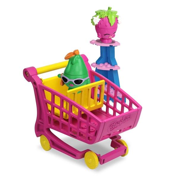 Shopkins Kinstructions Shopping Cart Strawberry Kiss, Posh Pear