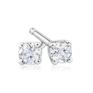 Azaro 14k Gold 1/4-carat TDW Round Diamond Pushback Stud Earrings