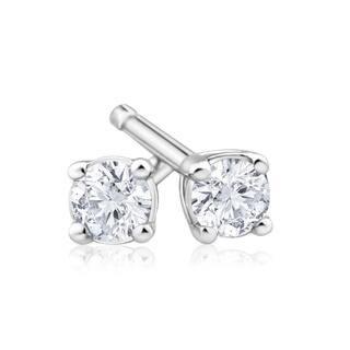 Azaro 14k White/Yellow Gold 1/3 carat TDW G-H SI1-SI2 Round Diamond Pushback Stud Earrings|https://ak1.ostkcdn.com/images/products/12043369/P18913980.jpg?impolicy=medium