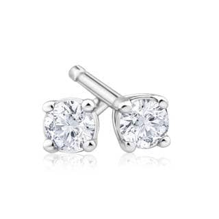 Azaro 14k Gold 0.15ct TDW Round Diamond Pushback Stud Earrings (G-H, SI1-SI2)