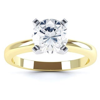 Azaro 14k Gold 1/2ct TDW Diamond 4-prong Solitaire Engagement Ring